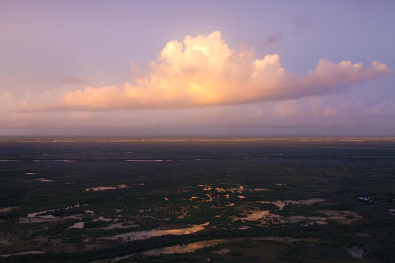 Everglades at sunset