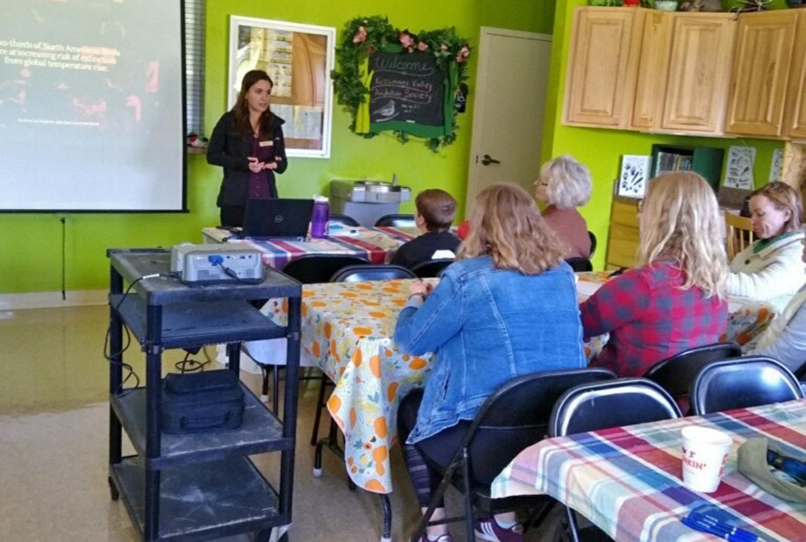 An Audubon chapter receives a climate change advocacy training.