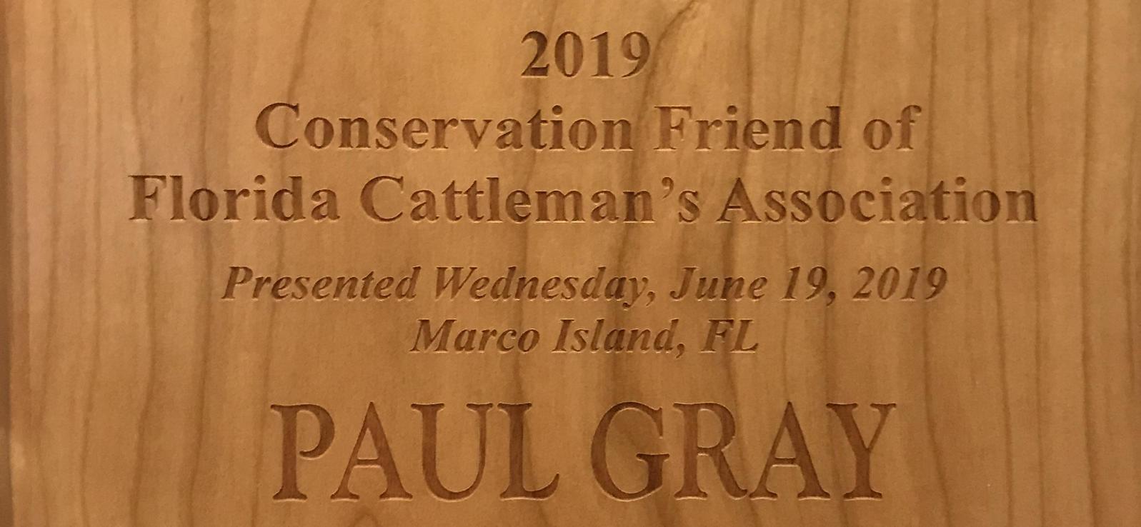 cattlemen's association, conservation, audubon florida, paul gray
