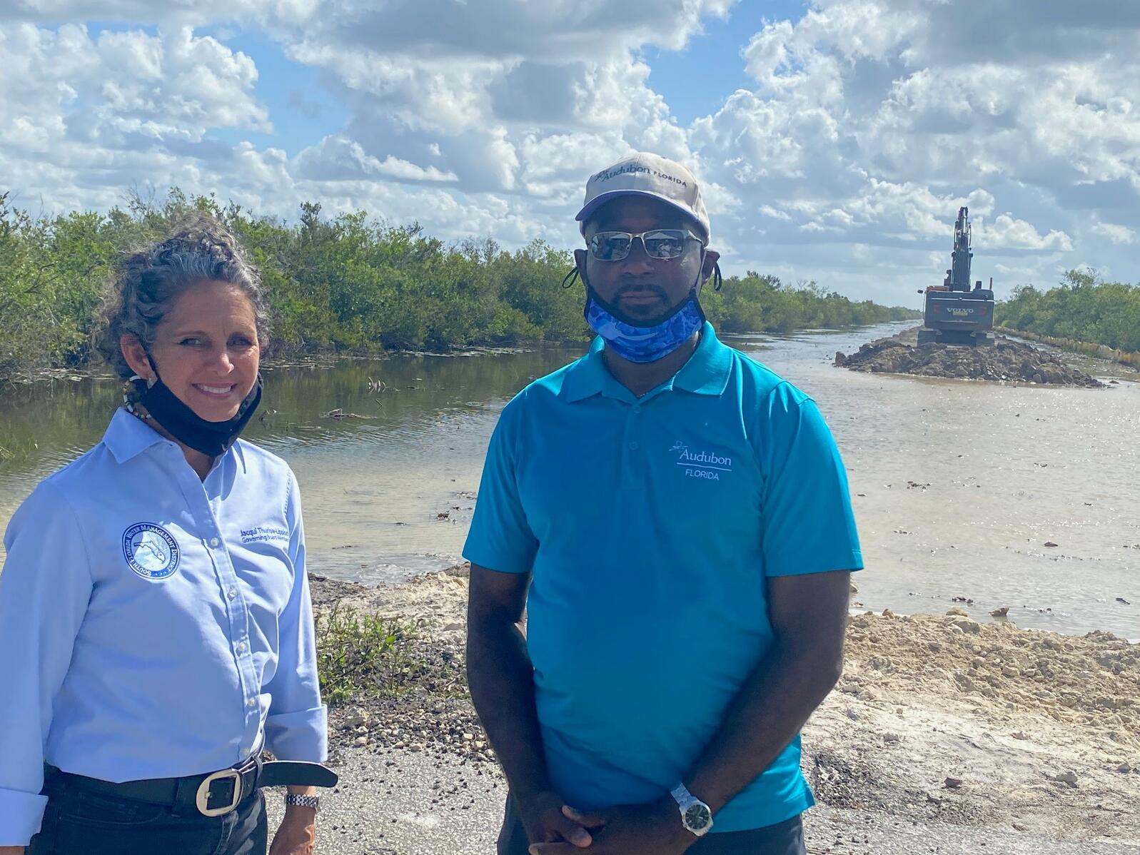 Northern Everglades Policy Analyst Doug Gaston with Jacqui Thurlow-Lippisch, governing board member of the South Florida Water Management District.