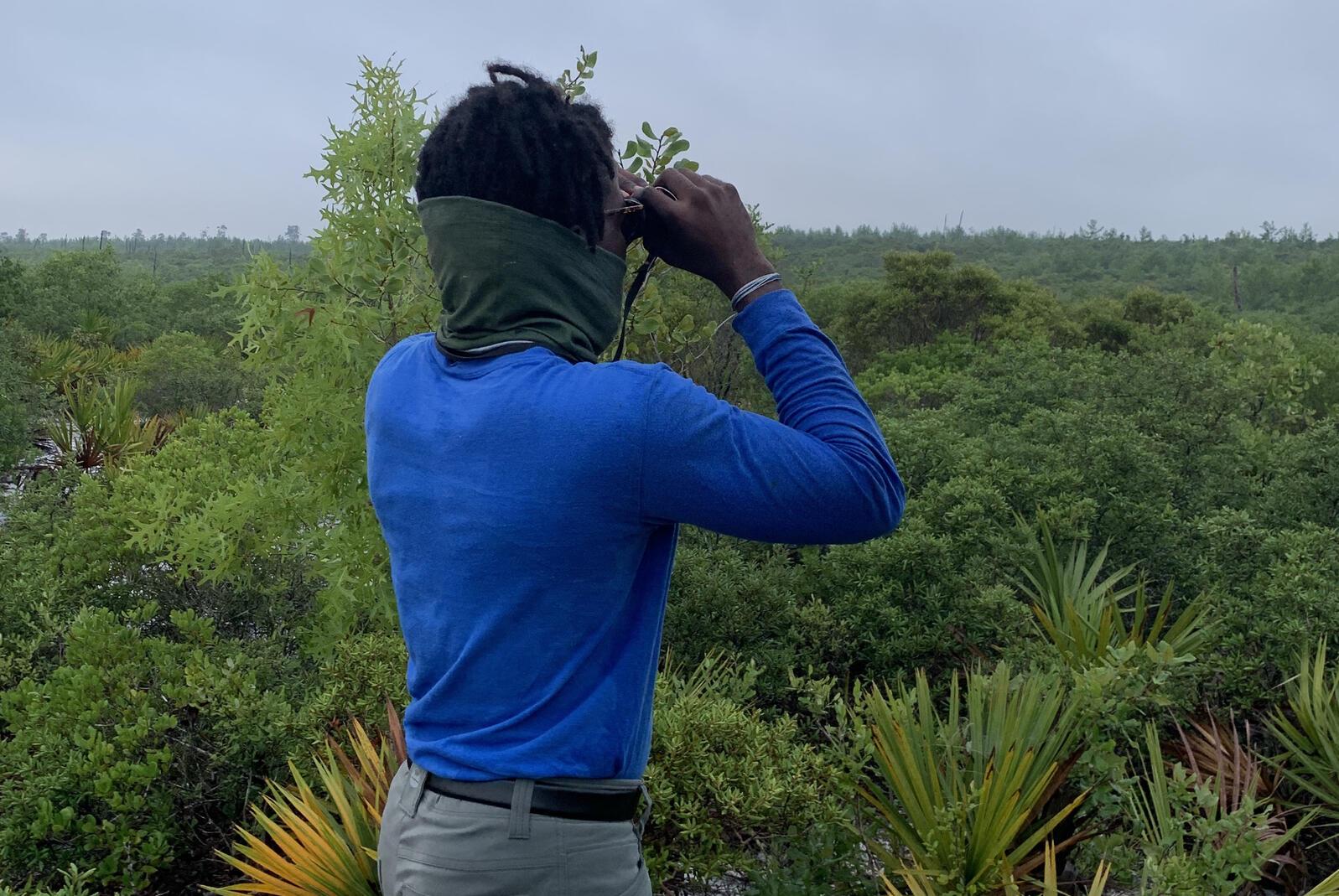 Herby Zephir birding in Ocala National Forest.