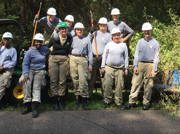 AmeriCorps Volunteer Crew Joins Audubon's Corkscrew Swamp Sanctuary