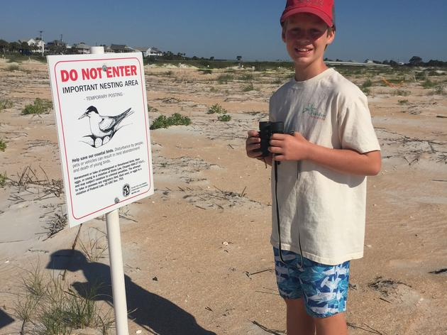 Young steward protects birds of Summer Haven
