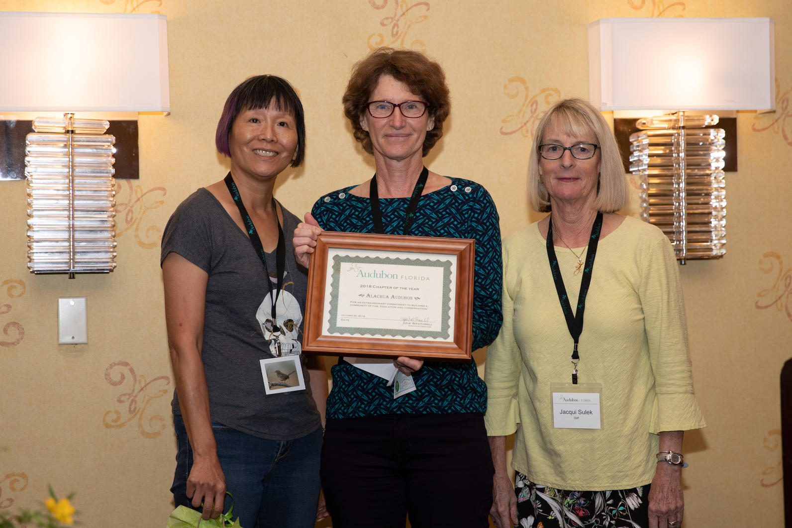 Best Chapter for a large chapter goes to Alachua Audubon.