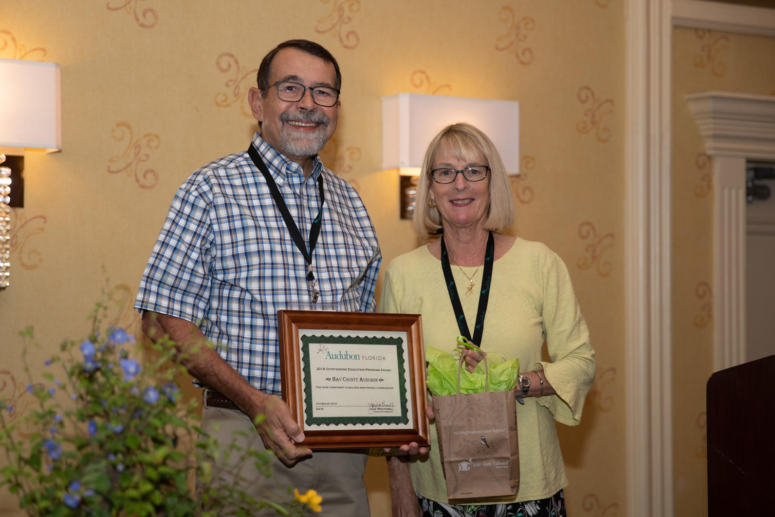 Chapter President Norm Capra accepted the award.