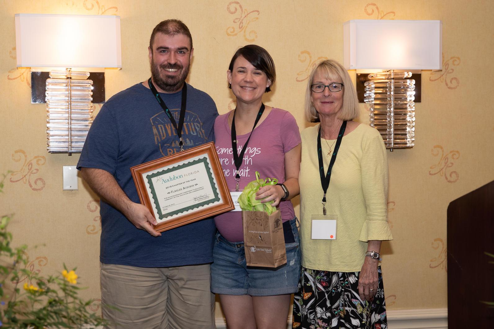 Flagler Audubon was award for Best Chapter.