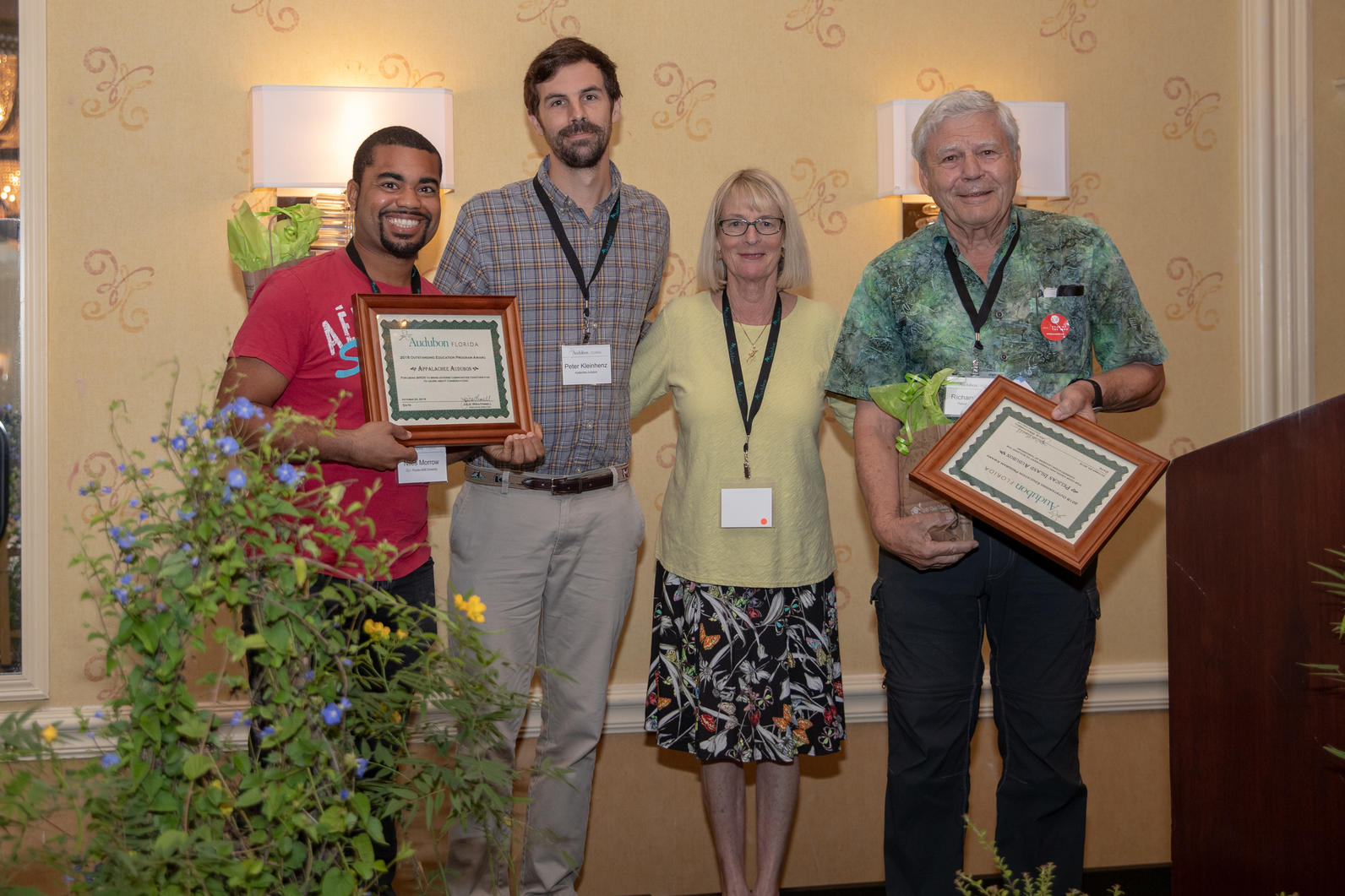 Audubon Chapter accepts Best Education Project Award