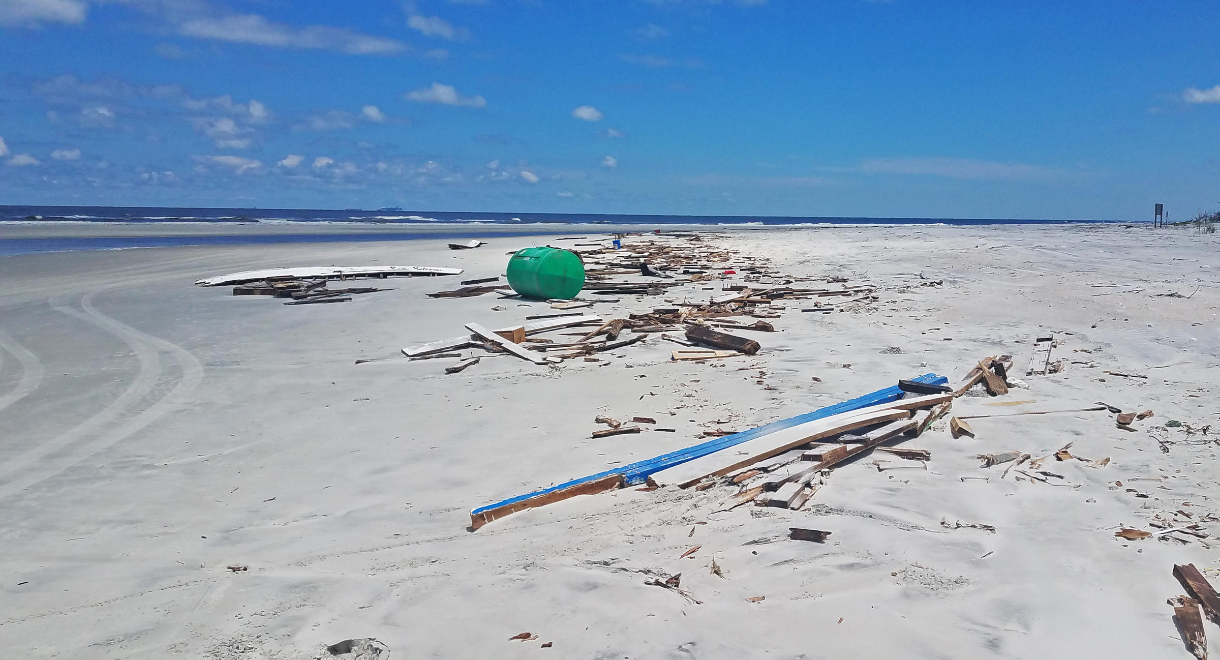 Boat debris. Photo: Savannah Penney.