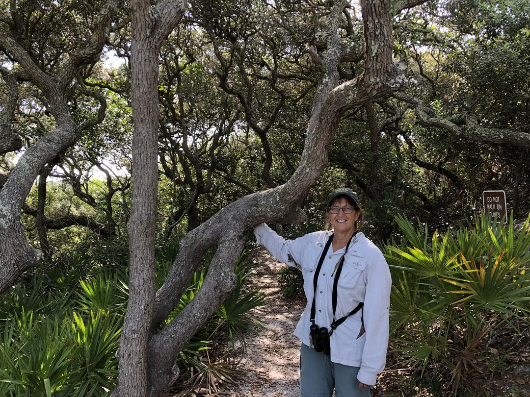 Deborah Green stands in Grayton Beach State Park.