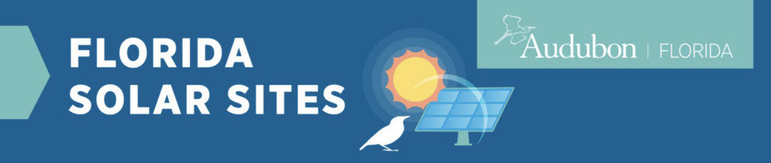 A decorative graphic with a bird outline, a solar panel, and a sun icon.